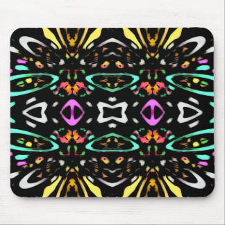 Digital Abstract Art Multicolored Pattern Mousepad