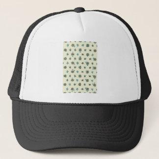 Digital abstract background.Geometric pattern Trucker Hat