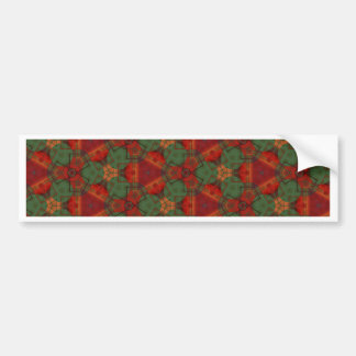 Digital Abstract Holiday Holly Bumper Sticker