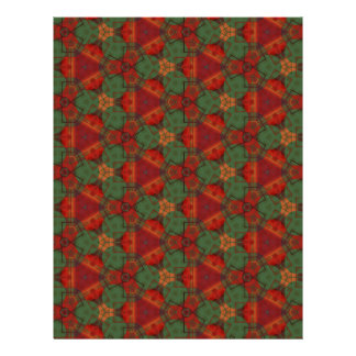 Digital Abstract Holiday Holly Letterhead