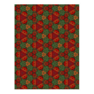 Digital Abstract Holiday Holly Postcard