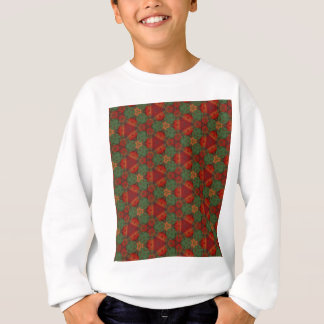 Digital Abstract Holiday Holly Sweatshirt