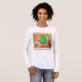 Digital Abstract Illustration DAI C Long Sleeve T-Shirt