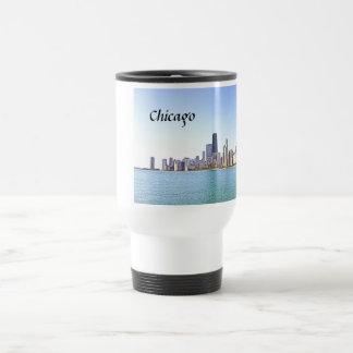 Digital Air Brushed Painting of CHicago Travel Mug