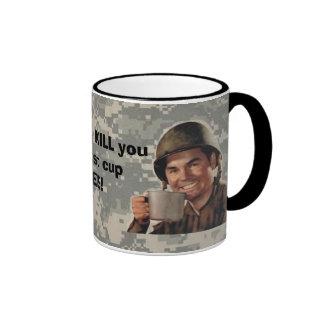 digital, army man plain, real patc... - Customized Ringer Mug