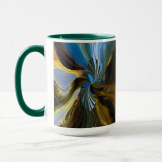 Digital Art Abstract Mug