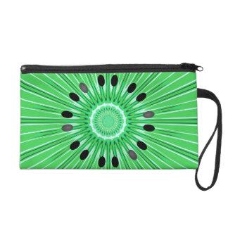 Digital art kiwi wristlet purses
