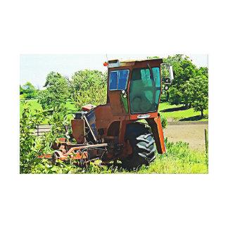 Digital Art Midwest Tractor Canvas Artwork