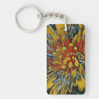 Digital Art Photography: Dandelion Keychain