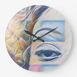 Digital Art Photography: Silly Dove Large Clock