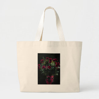 Digital Art Romantic Red Rose Bouquet Large Tote Bag