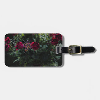 Digital Art Romantic Red Rose Bouquet Luggage Tag