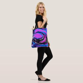 Digital Big Wave Tote Bag