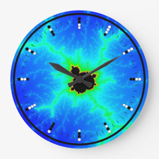Digital (Binary) Analog Clock w Mandelbrot Fractal