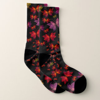 Digital Butterflies Large All-Over-Print Socks