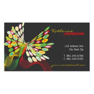 Digital Butterfly Retro Fun Custom Profile Card Business Card
