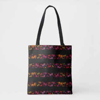 Digital Butterfly Striped All-Over-Print Tote Bag