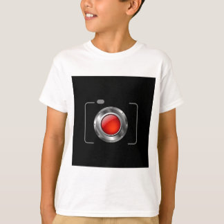 Digital camera with red aperture T-Shirt