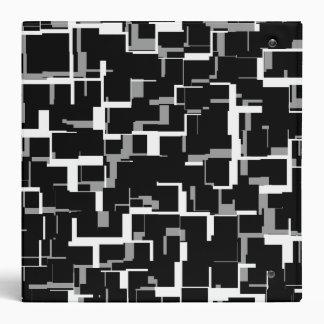 Digital Camo Black White Gray Pattern Binder
