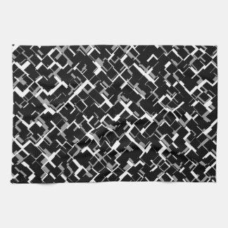 Digital Camo Black White Gray Pattern Kitchen Towel