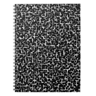 Digital Camo Black White Grey Gray Pattern Notebook
