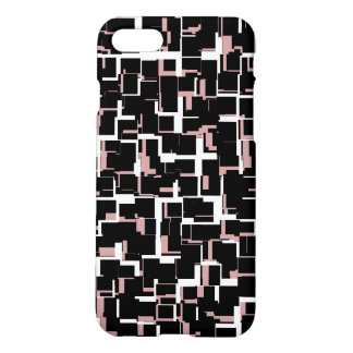 Digital Camo Black White Pink Pattern iPhone 8/7 Case