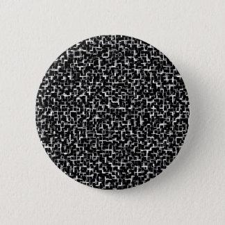Digital Camo Black White Yellow Pattern 2 Inch Round Button