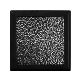 Digital Camo Black White Yellow Pattern Gift Boxes