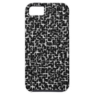 Digital Camo Black White Yellow Pattern iPhone 5 Case