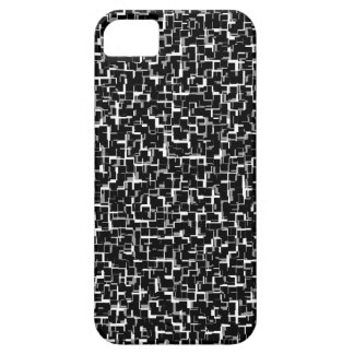 Digital Camo Black White Yellow Pattern iPhone 5 Covers
