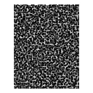 Digital Camo Black White Yellow Pattern Letterhead