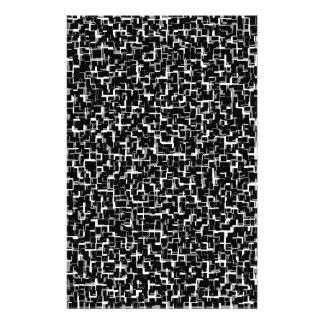 Digital Camo Black White Yellow Pattern Stationery