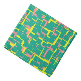 Digital Camo Green Yellow Pink Pattern Bandana