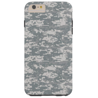 Digital Camouflage Gray Tough iPhone 6 Plus Case