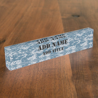 Digital Camouflage Naval Name Plate