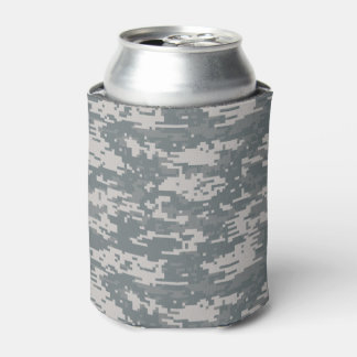 Digital Camouflage Pattern Can Cooler