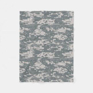 Digital Camouflage Pattern Fleece Blanket