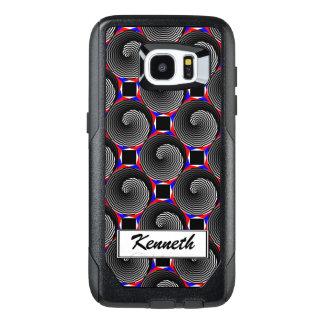 Digital Checker Yin Yang by Kenneth Yoncich OtterBox Samsung Galaxy S7 Edge Case
