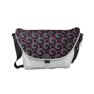 Digital Checker Yin Yang Courier Bag