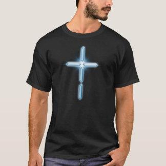 Digital Christian Cross Logo drk T-shirt design