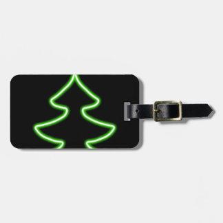 Digital Christmas tree Luggage Tag
