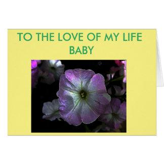 Digital color petunia flower card