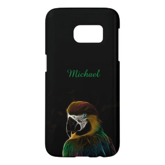Digital colorful parrot fractal samsung galaxy s7 case