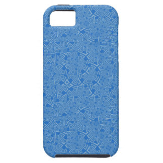 Digital Crazy Quilt in Sky Blue iPhone 5 Case