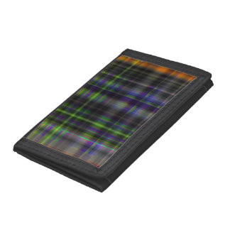 Digital Cross Tartan Tri-fold Wallet