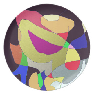 Digital Design in Abstract Party Plate