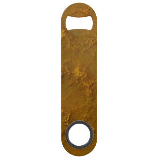 Digital Dirty Gold Rock Relief Texture Speed Bottle Opener