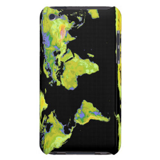 Digital elevation model of the continents on Ea Barely There iPod Covers