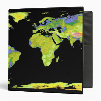 Digital elevation model of the continents on Ea Vinyl Binder