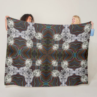 Digital Evolution Society Mandala Fleece Blanket